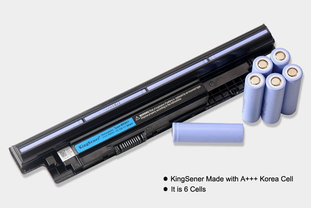 KingSener 6000 mAh Corée Portable MR90Y Batterie pour DELL Inspiron 3421 3721 5421 5521 5721 3521 3437 3537 5437 5537 3737 5737 XCMRD - 2