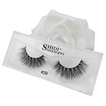 SHIDISHANGPIN 1 box beauty essentials mink eyelashes 1pair 3d lashes hand made false extension