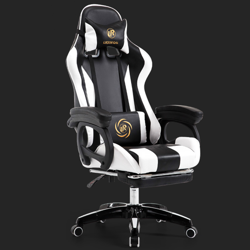 Rotated E-sports Gaming Chair Household Multi-function Reclining Computer Chair with Footrest Slide Creative Rail ArmrestRotated E-sports Gaming Chair Household Multi-function Reclining Computer Chair with Footrest Slide Creative Rail Armrest