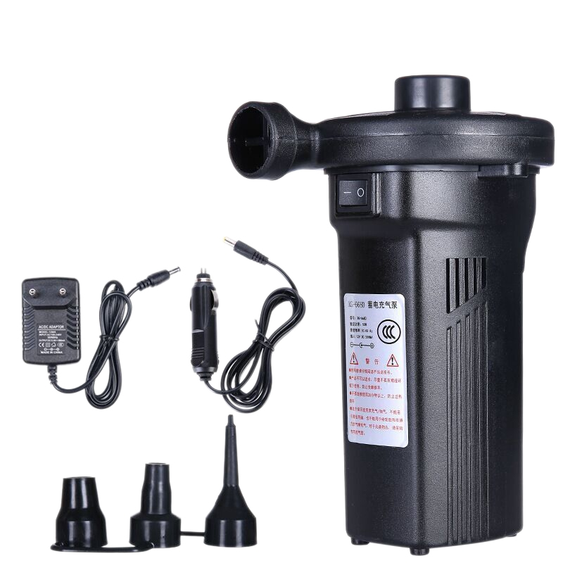 Eu Plug,Rechargeable Electric Air Pump Nickel-Cadmium Battery Inflatable Air Pump Inflate Deflate For Outdoor Kayak Airbed Boa(China)