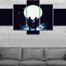 5 Piece HD Print Attack on Titan Anime Modern Decorative Paintings Canvas Wall Art for Home Decorations Decor Artwork