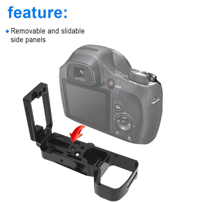MENGS D810 L-Shaped Quick Release Plate Aluminum Alloy for Nikon D810 Camera Compatible with Arca-Swiss Standard