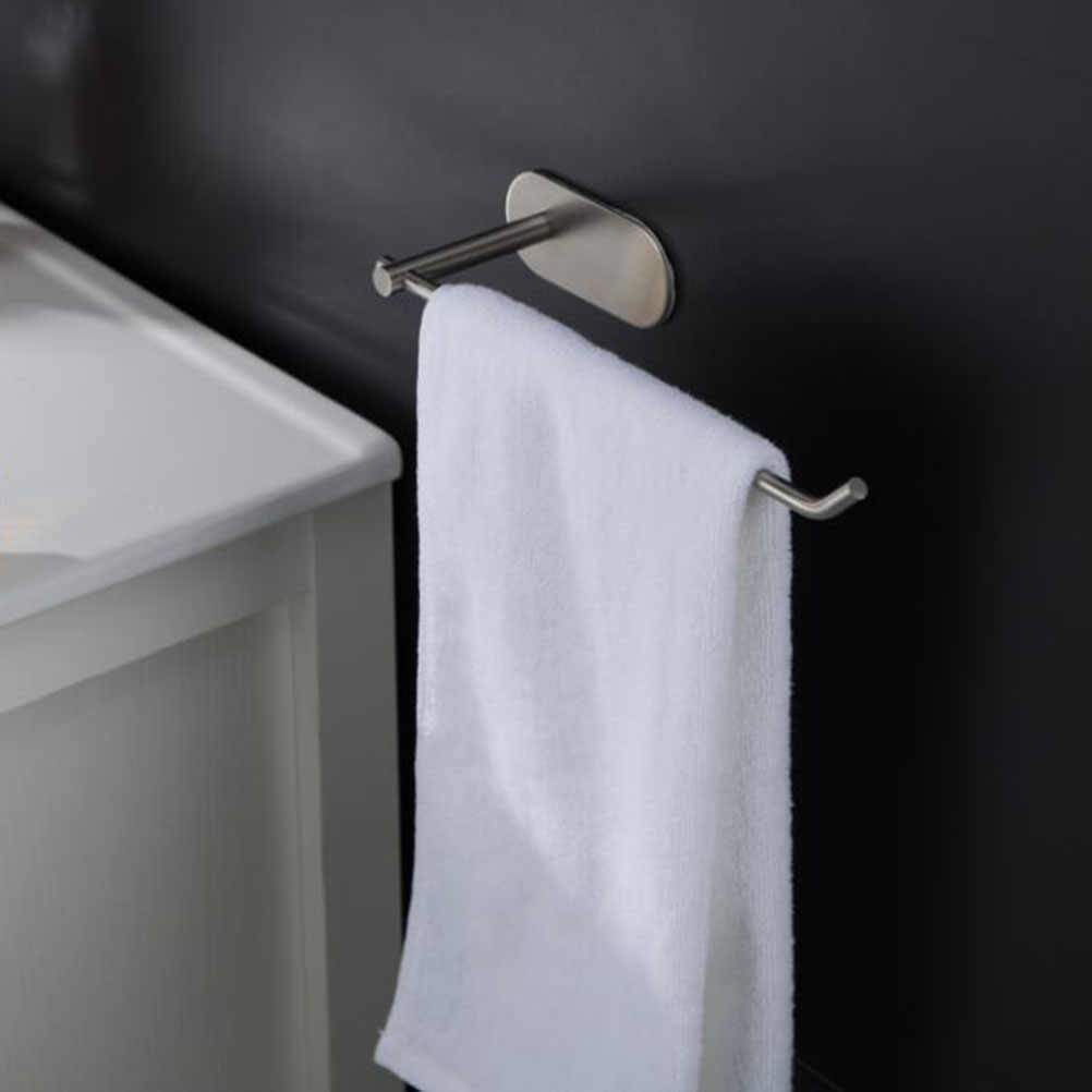 Self-Adhesive Towel Bar 304 Stainless Steel Towel Rack Dish Rug Holder Size 1 Size 2 With Sticky Adhesive