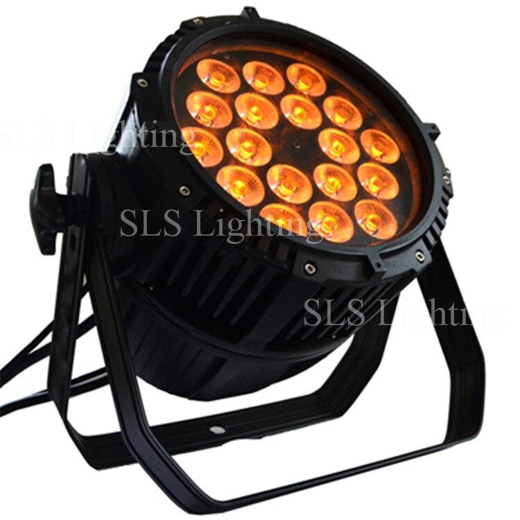 8pcs/lot Outdoor Led Lighting Par 18pcs Led Par Light 4 In 1 IP65 Disco Light Most Powerful Outdoor High Led Lights China Market