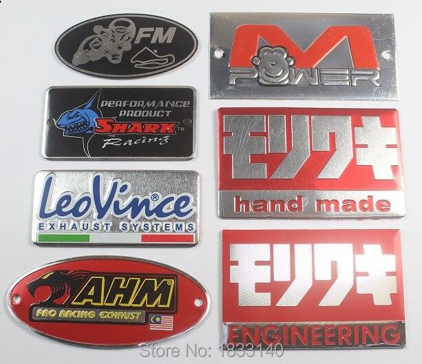 Aluminum 3D  Motorcycle Exhaust Pipe Sticker Yoshimura USA Emblem Racing Decal
