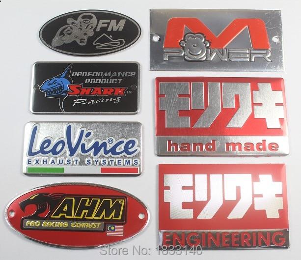 New 3D Aluminum Heat-resistant Aluminium Motorcycle Exhaust Pipes Decal Sticker For Scorpio Yoshimura Akrapovic Sticker