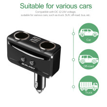 3.1A 5V Dual USB Smart Fast Car Charger 12V-24V Cigarette Lighter Socket Volmeter Display For Iphone Xiaomi Ipad(China)