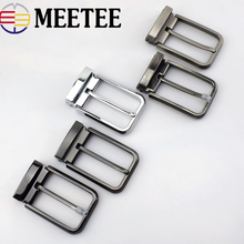Meetee High quality 35mm Mens Metal Belt Buckle Pin Clip Cowboy Jeans  Head for 33-34mm DIY LeatherCraft Supply AP2763