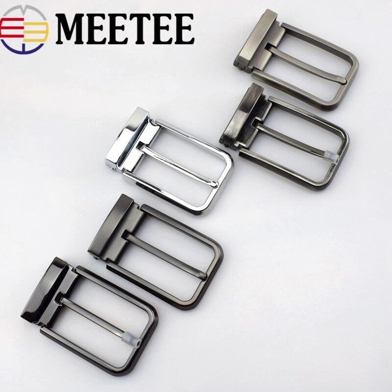 Meetee haute qualité 35mm hommes métal ceinture boucle broche Clip Cowboy Jeans tête pour 33-34mm bricolage maroquinerie approvisionnement AP2763