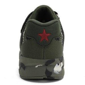 Image 3 - Летняя детская спортивная обувь, военные тренировочные камуфляжные кроссовки для мальчиков, армейский зеленый цвет, Детская уличная обувь для бега, кроссовки для девочек
