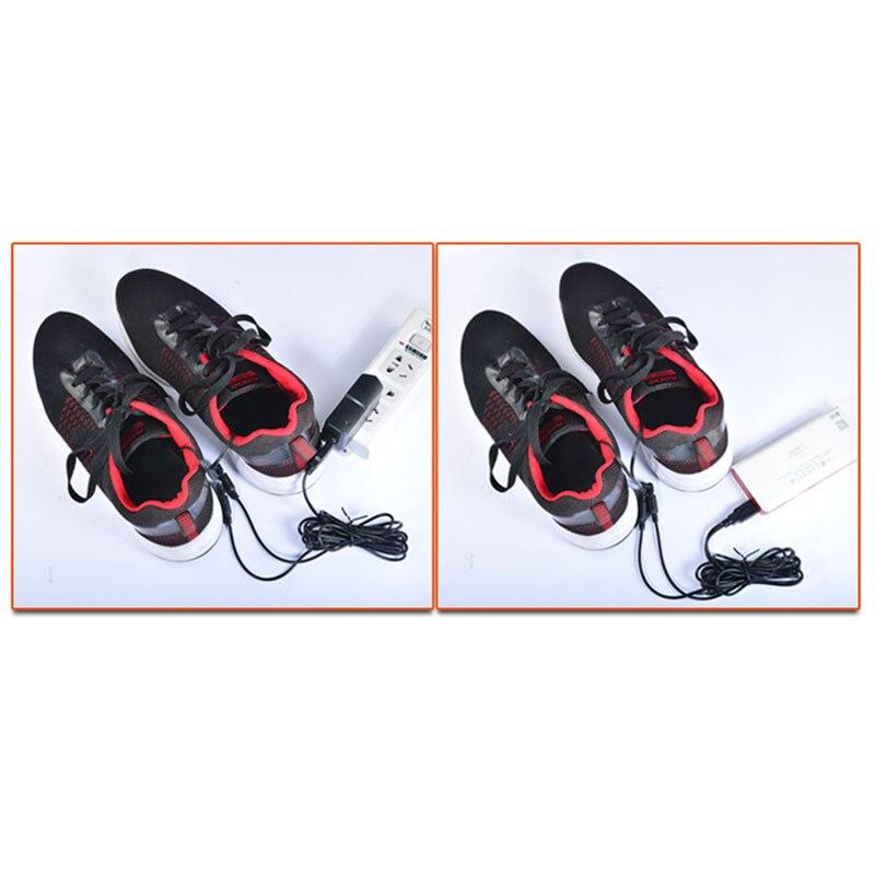 Стельки из углеродного волокна с электрическим подогревом для обуви, теплые носки, обогреватель ног, зарядка от USB, зимние теплые подушечки, один размер, подходят для большинства ног