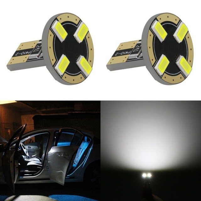 1 Piece Led Car DC 12v Lampada Light T10 194 168 W5W 5730 Super White Led Parking Bulb Auto Wedge Clearance Lamp