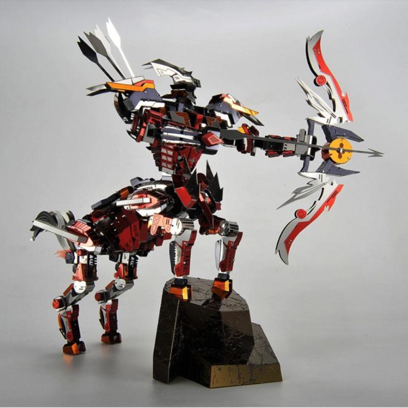 Créatif 3D bricolage Puzzle en métal demi cheval modèle Laser coupe assemblage blocs de Puzzle jouets classique Collection jouets cadeaux pour les enfants