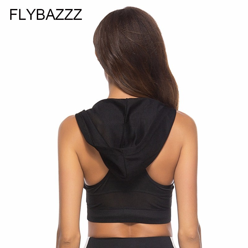 Womens Shockproof Running Vest Hooded Sports Bra Padded Gym Sports Vest Womens Tank Sexy Crop Tops Quick dry Fitness Yoga Shirts in Sports Bras from Sports Entertainment
