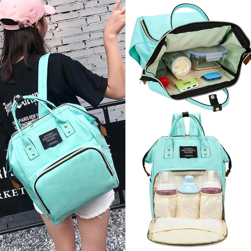 Large Capacity Maternity Mummy Nappy Bag Baby Care Nursing Mother Diaper Bag Multifunction Outdoor Milk Feeding Bottle Backpack