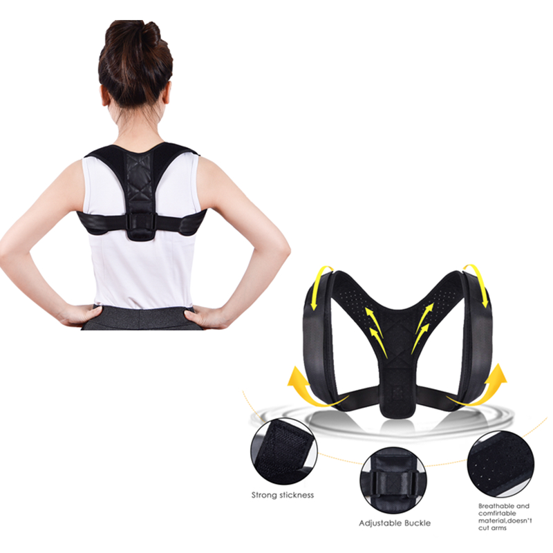 Adjustable Back Posture Corrector Unisex Adult Corset Braces Supports Shoulder Hunchback Correction Belt Body Healthy Care Tools