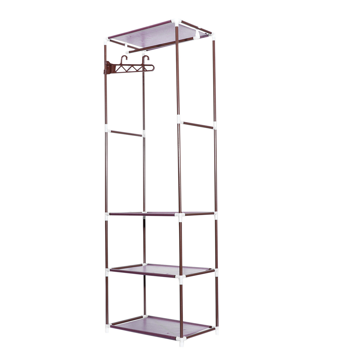 Bathroom Shelves 1pcs Portable Clothes Rack Organizer Bedroom Garment Floor-standing Shelf Clothing Coat Rack Storage Stand