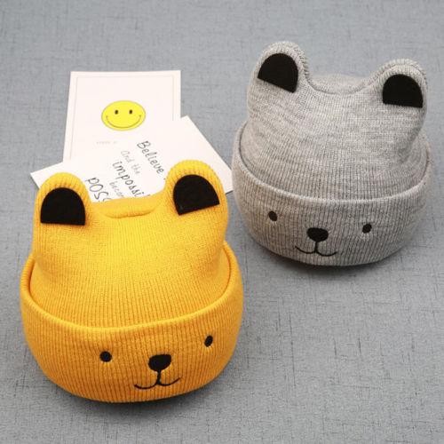 Pudcoco Cartoon Bear Hat For Kids 4