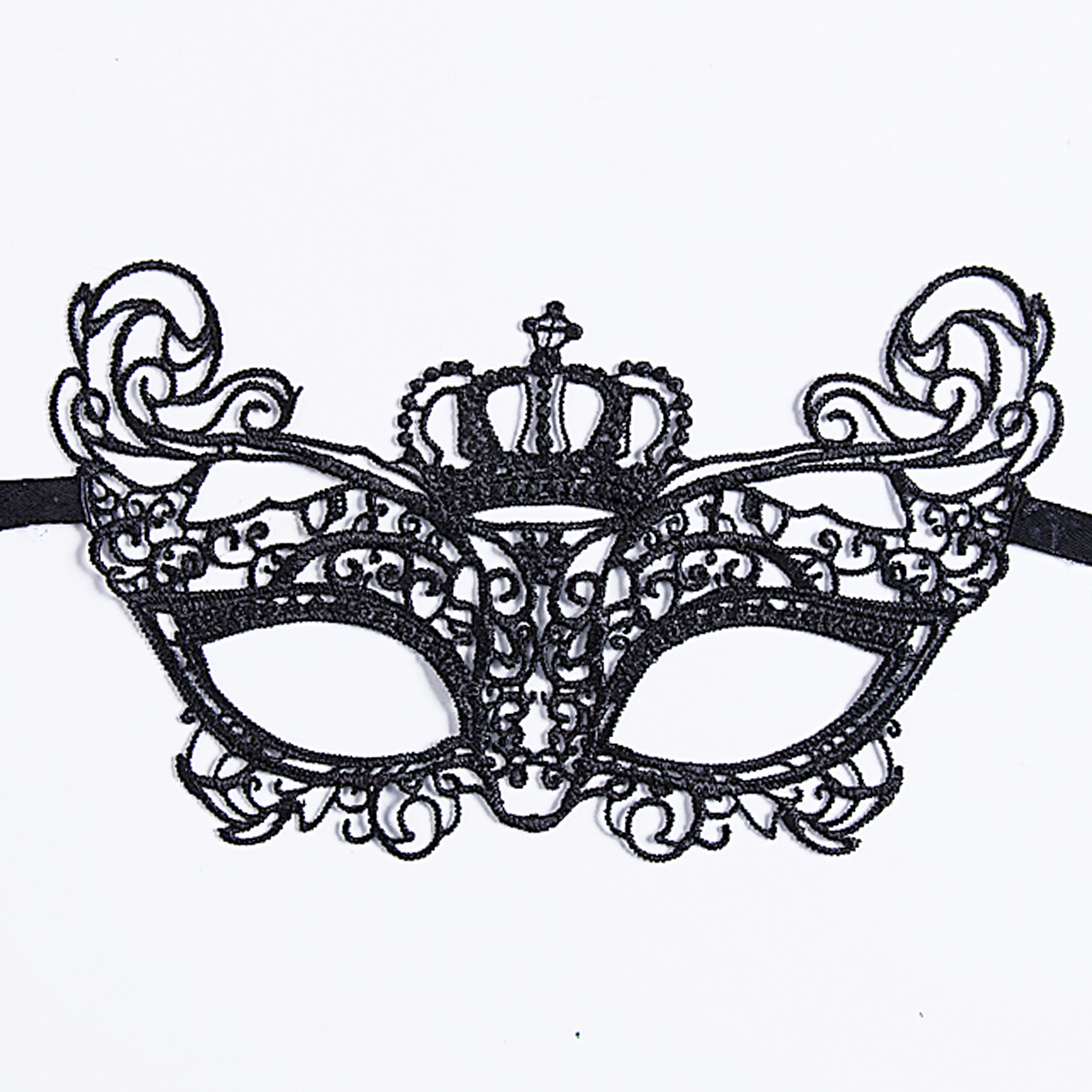 Lace-Mask Costume Masquerade Sexy Dress Fancy Party Halloween Black for 1PCS Cutout Hot-Sales