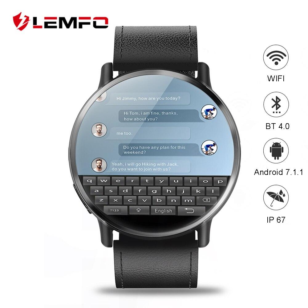 LEM X 4G montre connectée android 7.1 Soutien GPS Sim WIFI 2.03 Pouces Écran 8MP Caméra Coeur Taux LEMFO LEMX Smartwatch pour homme femme