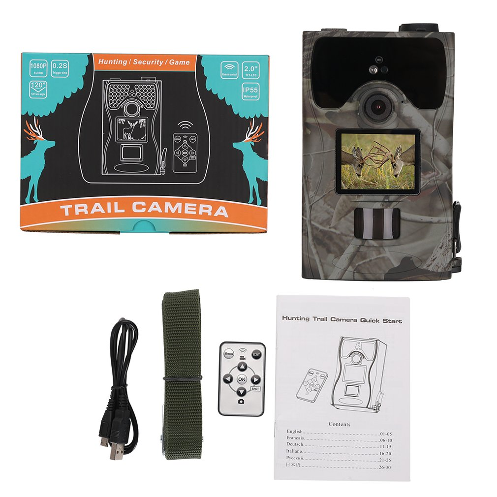 New SV-TCM16C 12MP LCD Screen Waterproof Infrared Hunting Camera Low-Glow LED Night Vision Tracker Digital CameraNew SV-TCM16C 12MP LCD Screen Waterproof Infrared Hunting Camera Low-Glow LED Night Vision Tracker Digital Camera