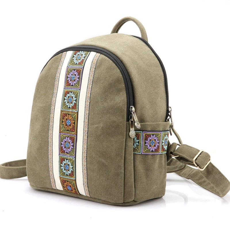Vintage Women Embroidery Ethnic Backpack Travel BackpackVintage Women Embroidery Ethnic Backpack Travel Backpack