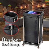 71cm Multifunction Bath Dirty Towel Storage Basket with Wheels Salon Laundry Clothes Organizer Bucket Trolley Cart Reusable