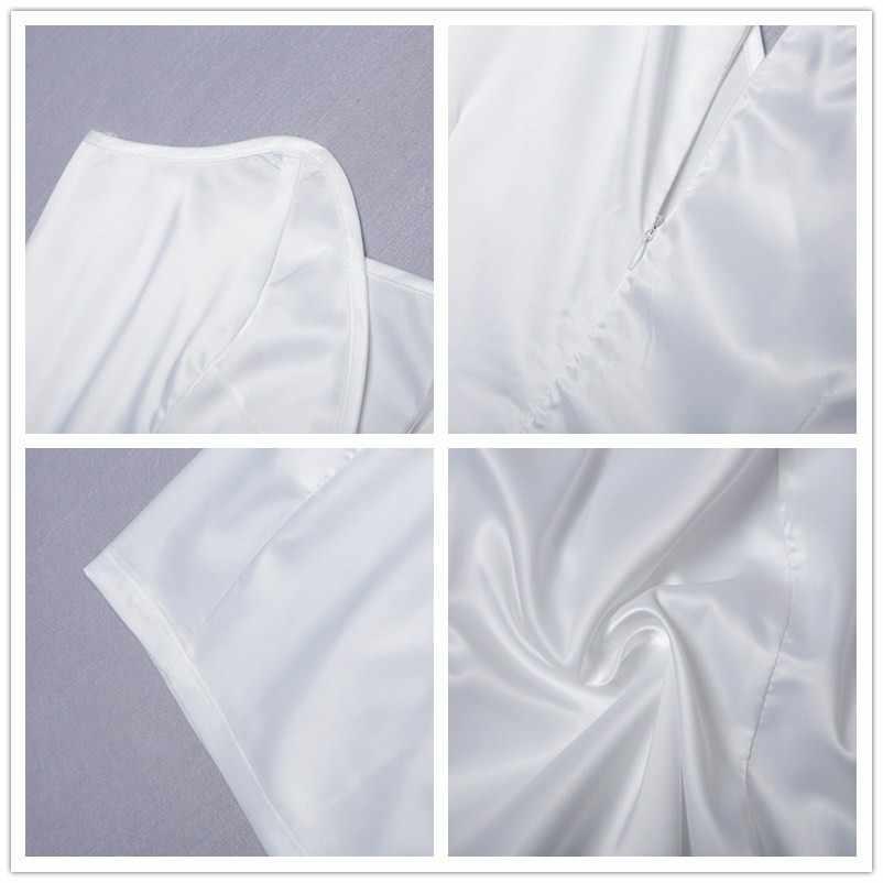 Fuedage Летнее белое сексуальное платье на одно плечо женское элегантное мини облегающее Клубное платье с глубоким v-образным вырезом и открытой спиной Вечерние платья для ночного клуба