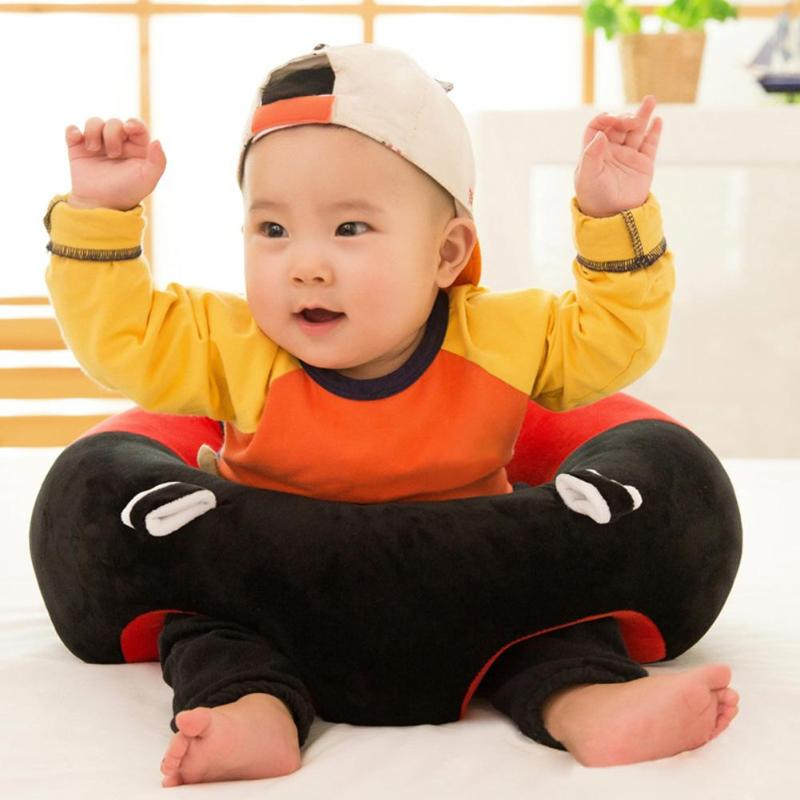 Baby Seats Sofa Cover Plush Chair Learning To Sit Support Seat Baby Safe Feeding Portable Without Filler Cradle Puff Sofa Chair