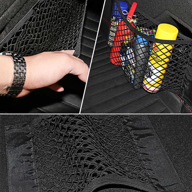 De malla en el baúl, organizador de red de maletero de coche Nylon SUV Auto carga bolsa de malla para almacenamiento organizador del tronco para coches mallas para equipaje de viaje de bolsillos