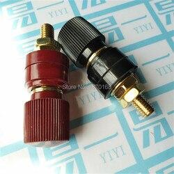 Plastikowa powłoka M10 czarny/czerwony gwintowany zacisk wiązania pocztowego 10MM