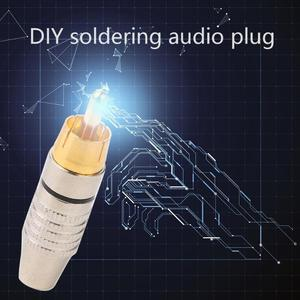 Image 4 - 10pcs/set RCA Connector Soldering Connector Audio Video Plug DIY RCA Speaker Adapter Plug for DIY Audio Video Cable
