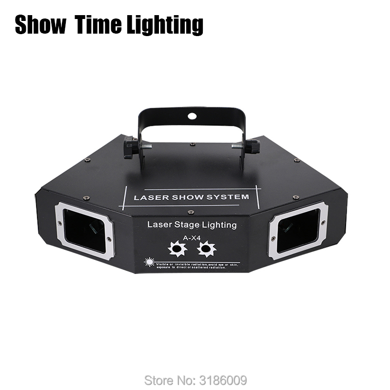 Promotion 4 Lens Line Pattern Laser Dj Disco Laser Rgb Dmx Light Party Projector DJ Show KTV Scanner Club Show Time Lighting