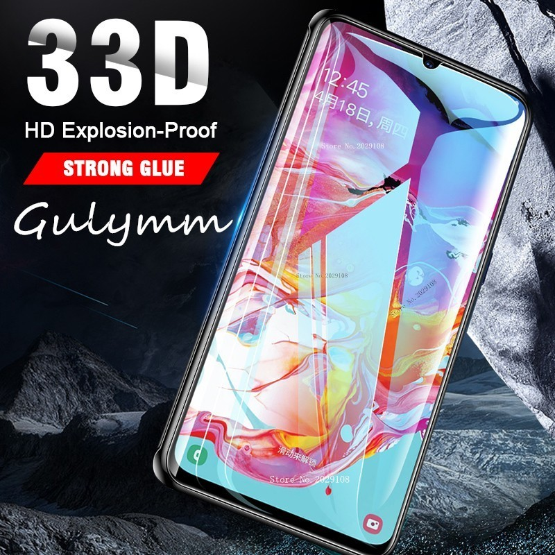 New 33D  Screen Protector For Samsung Galaxy A 10 20 30 40 50 60 70 80 90 M 2019 A505F Full Cover Tempered Glass Safety