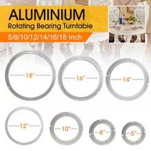 Поверхность гладкая Легкая установка тяжелый алюминиевый вращающийся подшипник поворотный стол круглый поворотный-пластина прикручивается или фиксируется