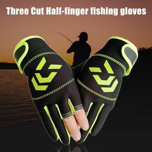 Image 4 - חיצוני החלקה דיג הגנה נגד פצעי דקירה גברים של שלושה אצבע דיג כפפות גבוהה איכות חיצוני לנשימה