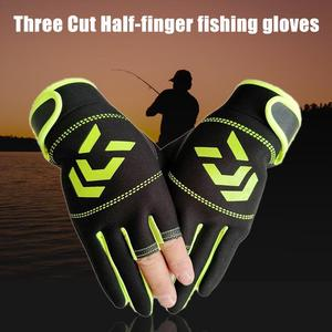 Image 4 - Outdoor Non   Slip Fishing Protection Against Stab Wounds Mens Three   Finger Fishing Gloves High   Quality Outdoor Breathable
