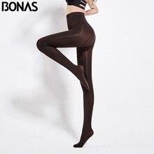 BONAS 80D Women Spring Tights High Elastic Solid  Autumn Pantyhose Women Sexy Slim Legins Female Tights Plus Size collant Femme