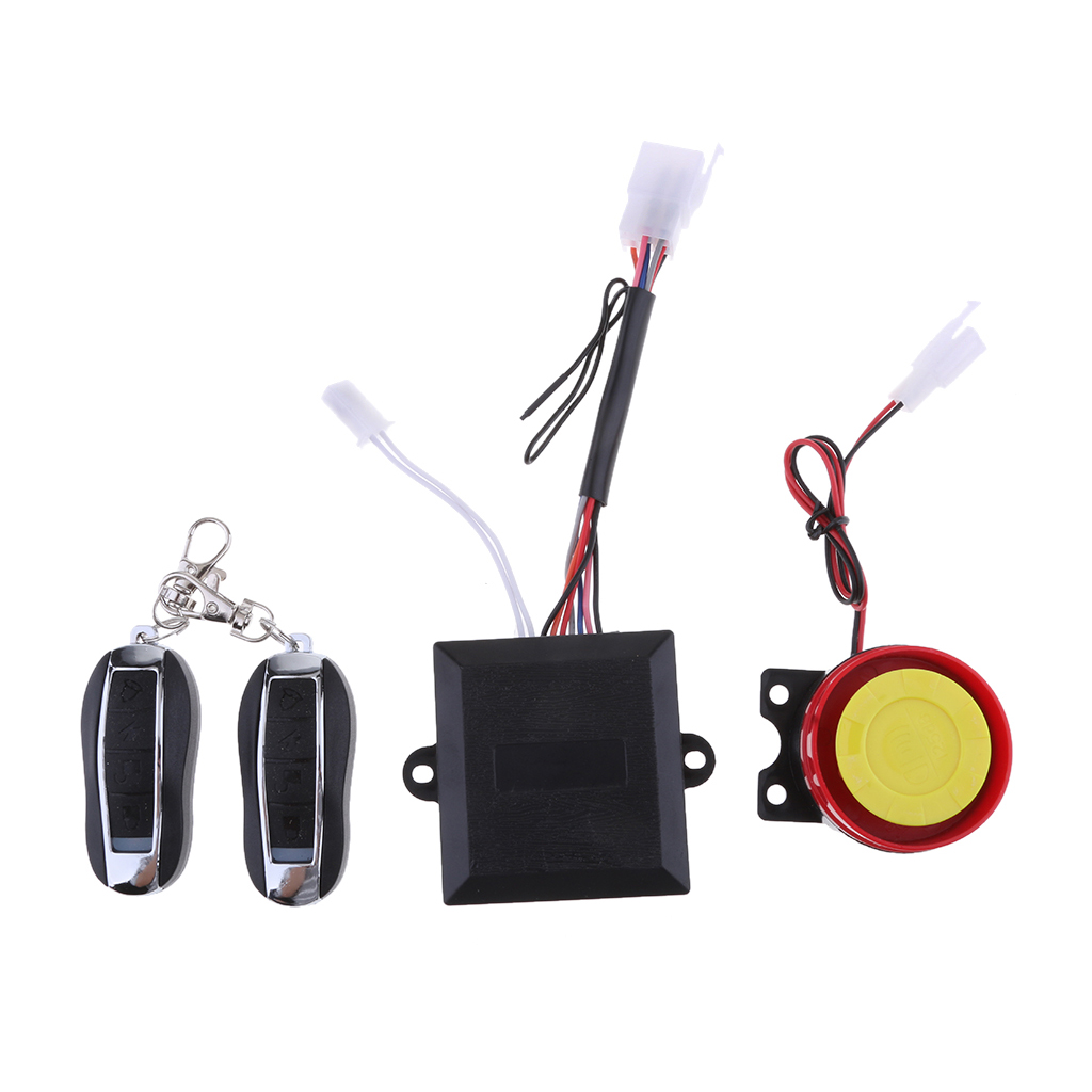 Motorcycle Anti-theft Alarm Security System Powerful Siren & Sensor & Remote Controls Security System Remote Control