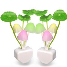 2Pack Led Night Light,Color Changing Nursery Mushroom Light Plug In Wall Lamp With Dusk To Dawn Sensor For Kids Baby Adul led dusk to dawn light brightest 50 watt 5500 lumens perfect for use as an led yard light