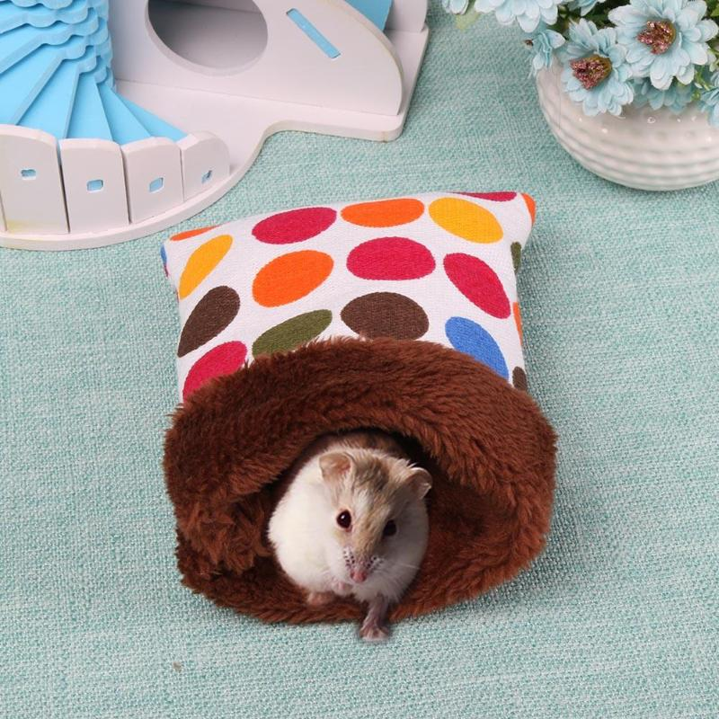 Warm Plush Hamster Nest Bed House Soft Guinea Pig Pocket Sleeping Bag Small Animals small font