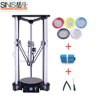 Market Lowest Price Sinis Delta 3D Printer with Laser Head 180*320MM 3D Printing Machine DIY Kit 1.75MM PLA for Education Toy