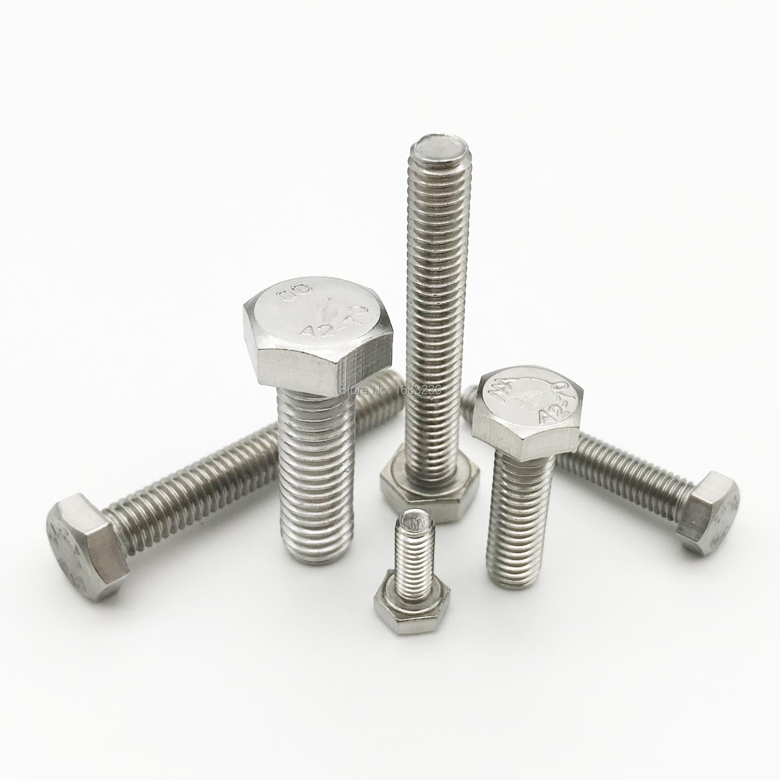 Passivated Finish M5-0.8 Thread Size Hex Washer Head 20 mm Length Metric 18-8 Stainless Steel Thread Rolling Screw for Metal Pack of 25