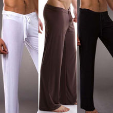 Tracksuit Trousers Leg-Pants Wide Men Casual Workout Loose Thin Sexy
