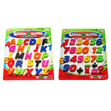 Numbers Fridge Magnets Alphabet Refrigerator Magnet Magnetic Letters and Numbers Toys (Capital Letters Type + Numbers Type)(China)