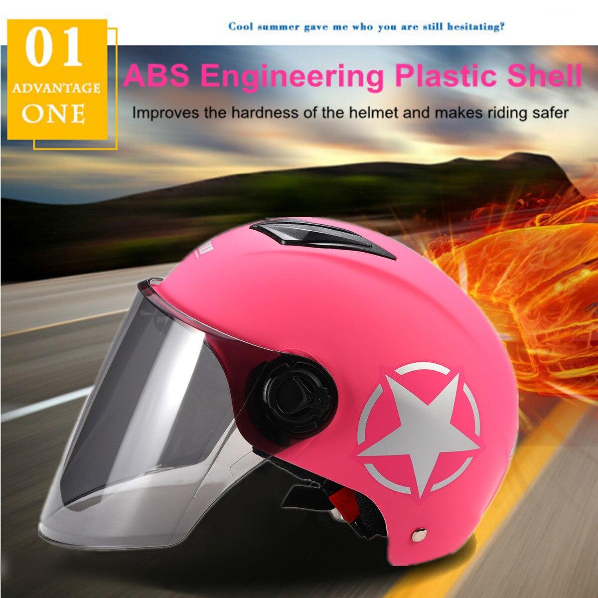 Anti-uv Motorrad Helm Hälfte Kopf Voller Gesicht Kurze Visier Motorrad Goggle Männer Frauen Roller Motorrad Frühling Summmmer Set