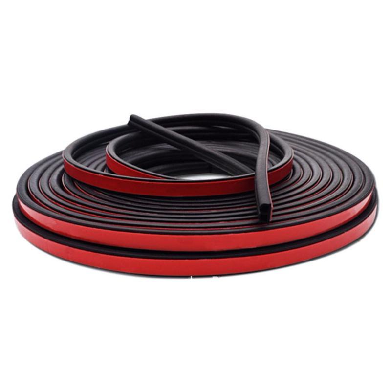 5 Meters/10 Meters Door Seal Strip General B Type Car Rubber Seal Strip Insulation Waterproof Energy Saving Noise Cancellation