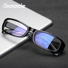 61a7ee98c2 Iboode Simple gafas miopic miopía gafas mujeres hombres montura negra lente  de visión corta gafas Anti rayos azules Ultra luz