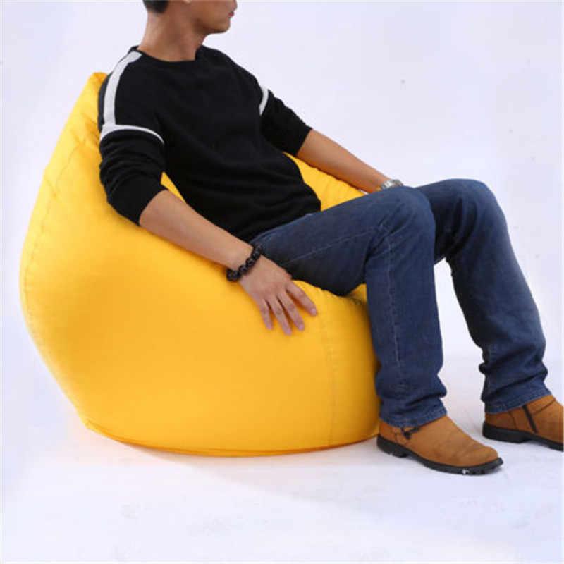 Cadeira Tampa do Saco de Feijão Espreguiçadeira Fillable Beanless quente Assento Do Sofá Da Sala De Jogo Espreguiçadeira Sofá Sala de estar Mobiliário Sofá Cadeira de Viagem nova