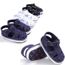 Летнее платье для младенцев, для маленьких мальчиков для девочек мягкие кроватки хлопковые сандалии садовая обувь идут в первую очередь